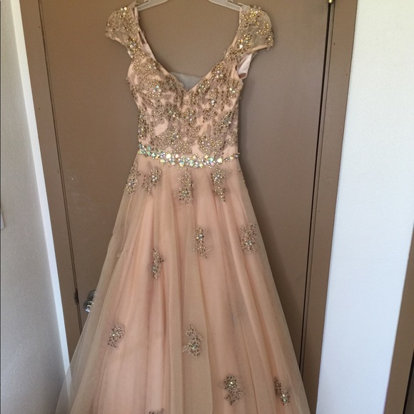 Jovani Dresses | Ball Gold Ball Gown Dress Beautiful | Poshmark